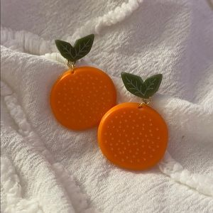 orange fruit earrings 🍊🍊